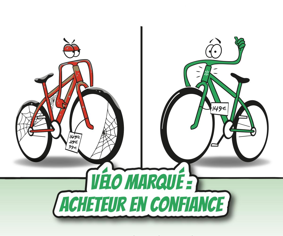 Vélo marqué = Acheteur en confiance