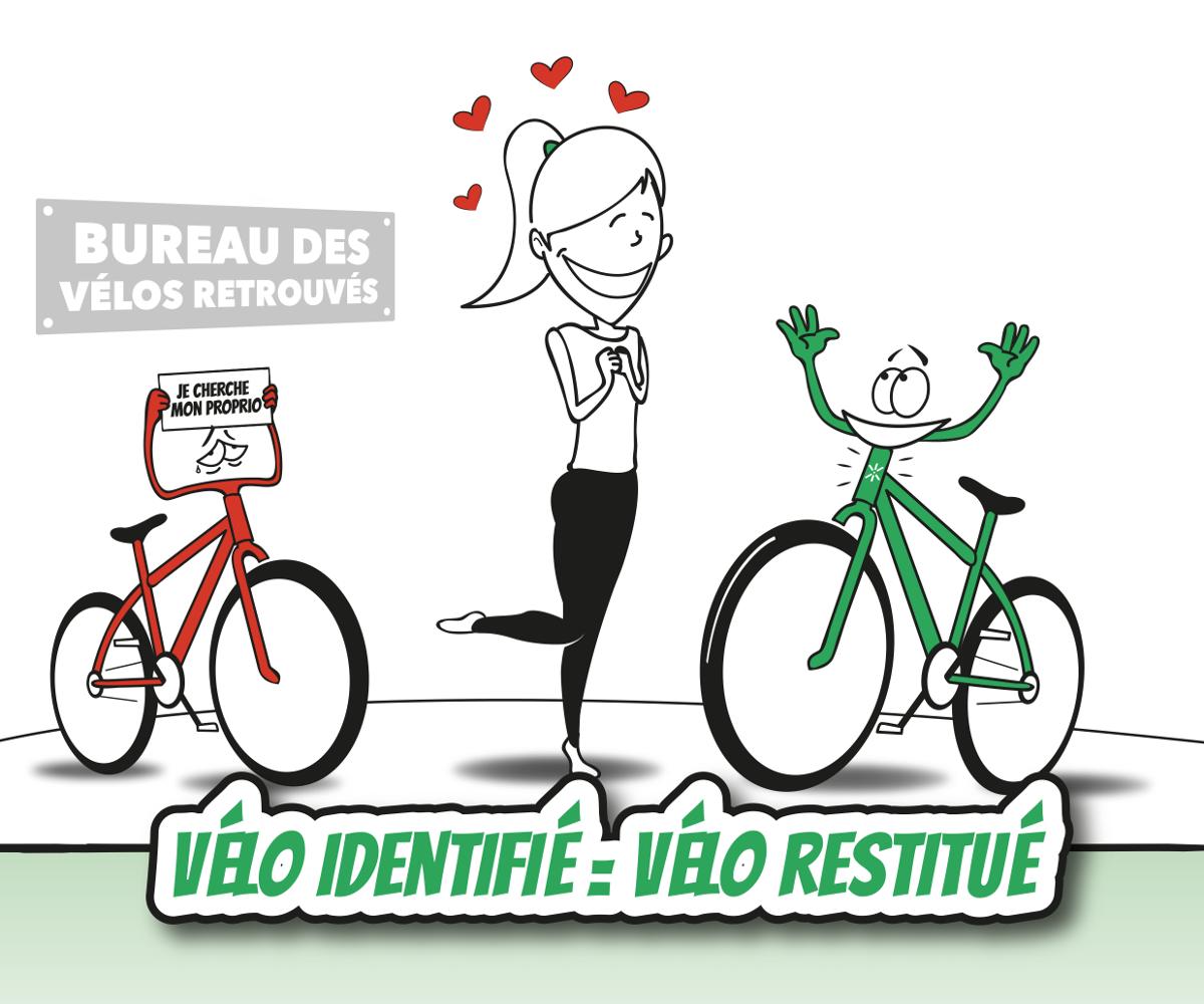 Vélo identifié = Vélo restitué
